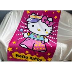 Детское махровое полотенце 75х150 Хелло Китти