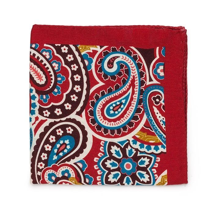 Платок Roda из шерсти, с крупным узором, красно-коричневый