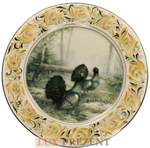 Сувенирная тарелка Глухари