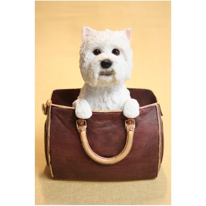 Статуэтка собаки «Вест-вайленд-Вайт Терьер» в сумке