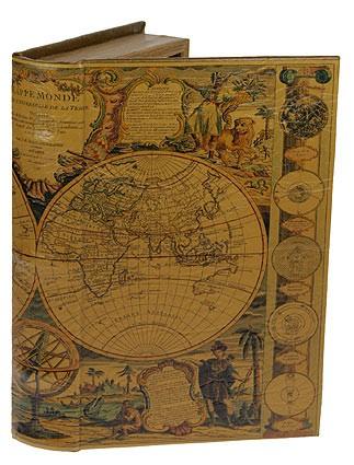 Шкатулка-фолиант Карта мира XVII века
