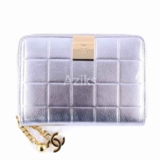 Женский кошелек Chanel (цвет: серебро)