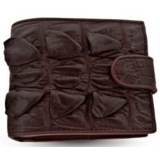 Мужской кошелек из кожи хвоста крокодила с монетницей