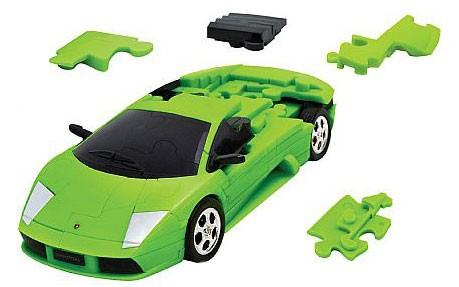 3Д пазл Ламборджини (зеленый, разобранный)