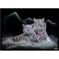 Картина с кристаллами Swarovski Он и она
