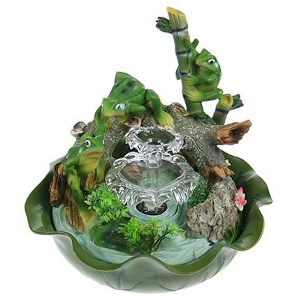 Фонтан декоративный Весёлые лягушата, подсветка