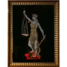 Картина с кристаллами Сваровски Богиня правосудия Фемида