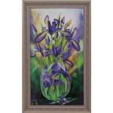 Картина с кристаллами Swarovski Ирисы