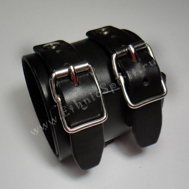 Черный кожаный браслет Джонни Деппа