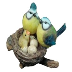 Навесная декоративная садовая фигурка Гнездо с синицами