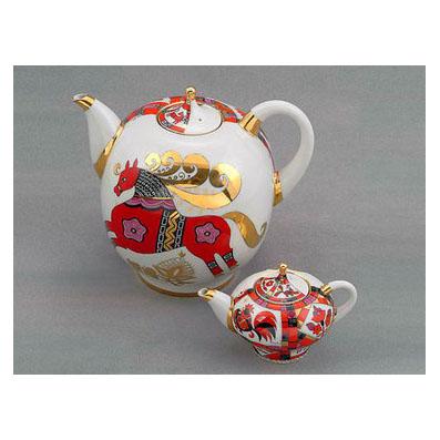 Комплект чайников «Красный конь»