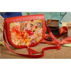 Женская сумка-седло Буйство цвета