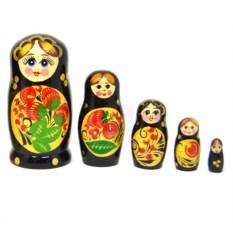 Матрешка из 5 кукол Клубничка