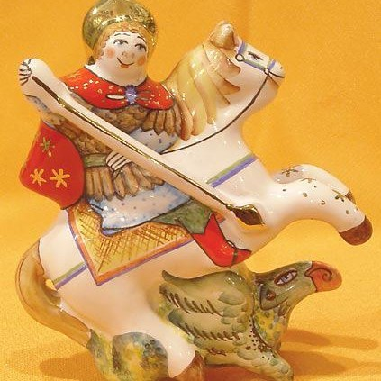 Елочная игрушка Георгий Победоносец