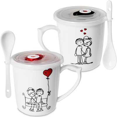 Набор кружек для влюблённых «Влюблённая парочка»