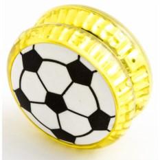 Волчок на шнуре YO-YO Футбол желтого цвета