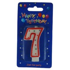 Свеча-цифра для торта 7