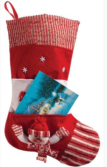 Носок для подарков с карманом