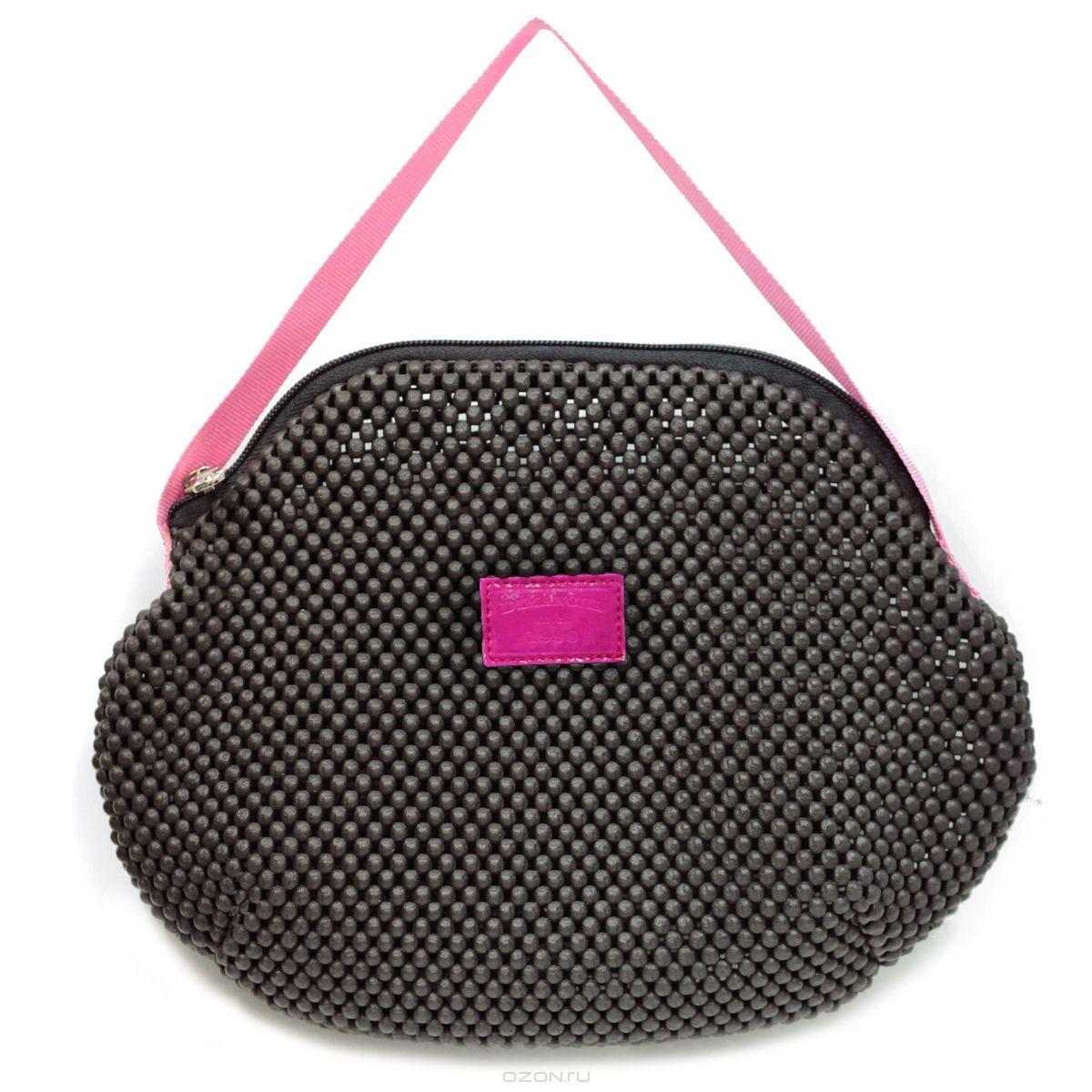 Косметичка Фитнес, цвет: черный, розовый