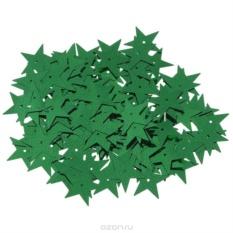 Пайетки Астра (звездочки), зеленый (4)