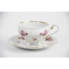 Фарфоровый чайный набор Шато на 6 персон Роза
