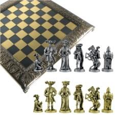 Металлический шахматный набор Рококо