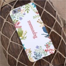 Именной чехол для iPhone Райские птички