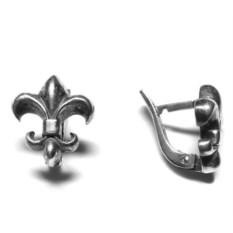 Серьги Лилии, серебро 925