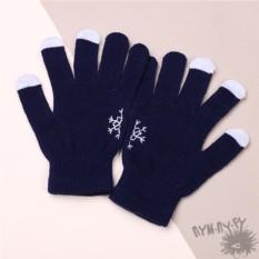 Touch-перчатки Снежинка в ладонях