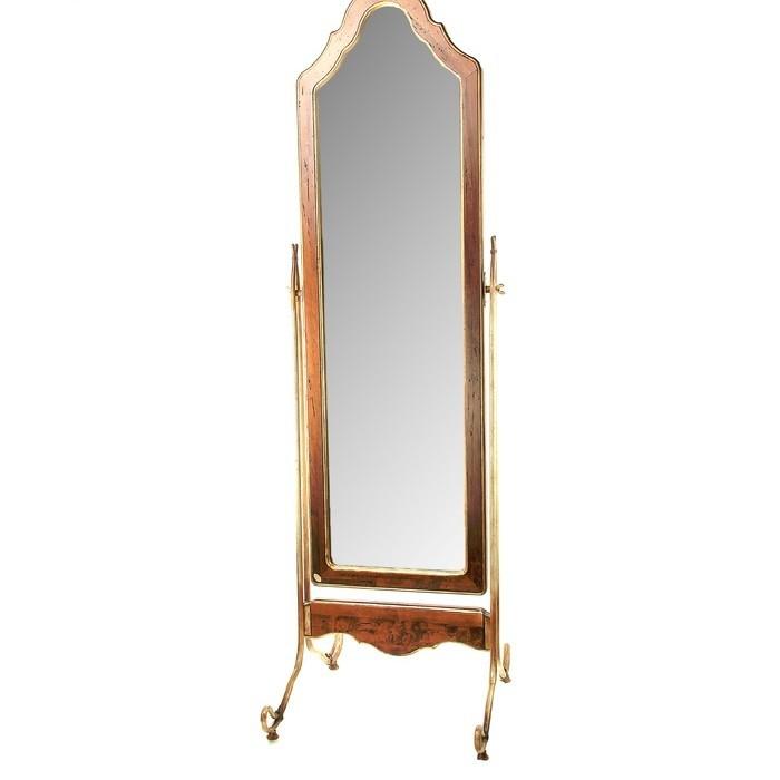 Напольное зеркало Grazia, дерево, латунь