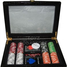 Покер в кожаном кейсе, 200 фишек
