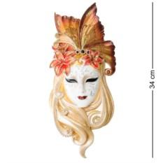 Венецианская маска Лилия (цвет — золотисто-белый)