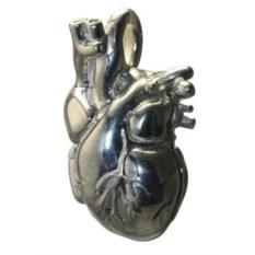 Серебряный кулон-медальон Анатомическое сердце