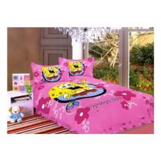 Розовое детское постельное белье Спанч Боб