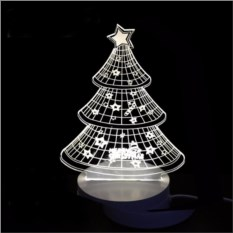 3D светильник Ёлка