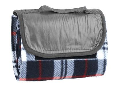 Плед для пикника в синюю клетку с непромокаемой подкладкой