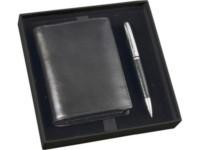 Подарочный набор: портмоне, шариковая ручка, черный