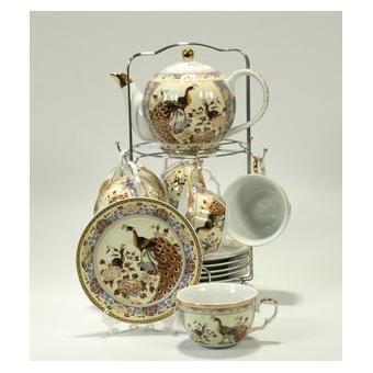 Чайный сервиз «Бежевый павлин»