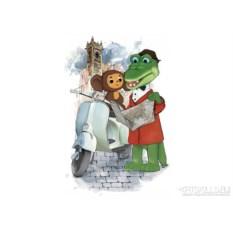 Женская футболка «Чебурашка и крокодил Гена»