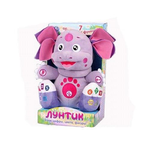 Мягкая игрушка Лунтик. Учим цифры, цвета, фигуры