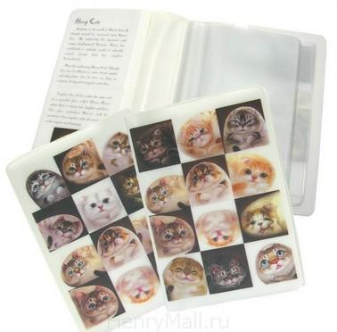 Обложка для паспорта «Кошки в клетках»