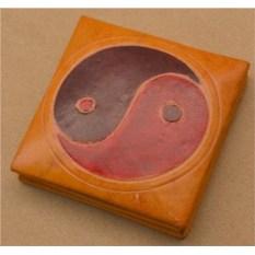 Монетница Socotra (Желтый, инь/ян; тип 2; кожа)