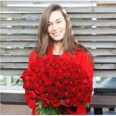 101 красная роза Кения