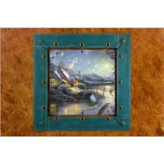 Картина из кожи Новогодняя сказка Томас Кинкейд