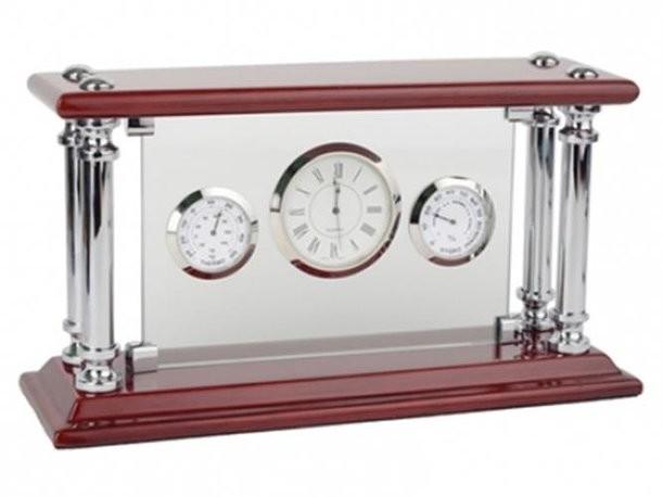 Погодная станция с часами, гигрометром и термометром
