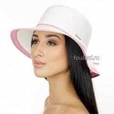 Белая пляжная шляпа от Del Mare