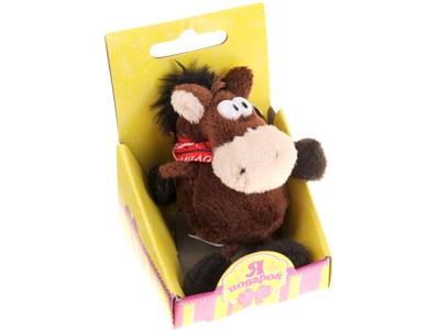 Мягкая игрушка-брелок Лошадь-ковбой