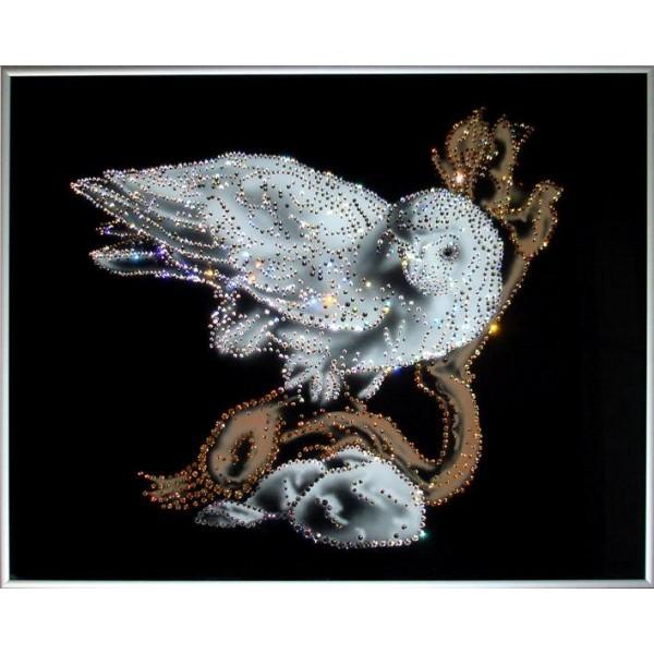 Картина Swarovski Белая сова