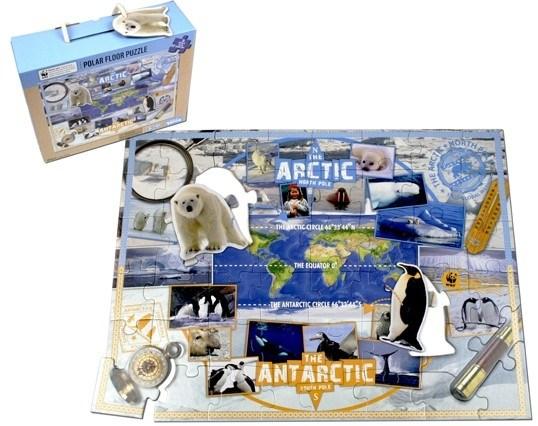 Пазл Арктика и Антарктика