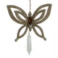Новогодние украшение для ёлки Бабочка